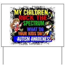 Rock Spectrum Autism Yard Sign