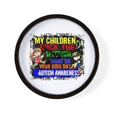 Rock Spectrum Autism Wall Clock