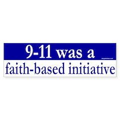 Faith Based Initiative Bumper Bumper Sticker