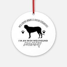 Irish Wolfhound dog breed design Ornament (Round)