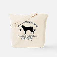 Irish Wolfhound dog breed design Tote Bag