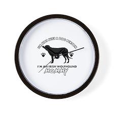 Irish Wolfhound dog breed design Wall Clock