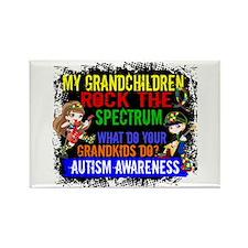 Rock Spectrum Autism Rectangle Magnet