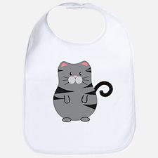 Gray Cat Bib
