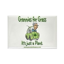 Grannies for Grass Rectangle Magnet