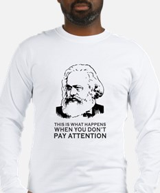 Disappointed Marx Long Sleeve T-Shirt