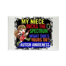 Rocks Spectrum Autism Rectangle Magnet