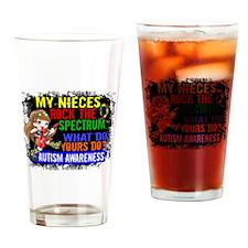 Rock Spectrum Autism Drinking Glass