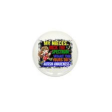Rock Spectrum Autism Mini Button (100 pack)
