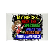 Rock Spectrum Autism Rectangle Magnet (100 pack)