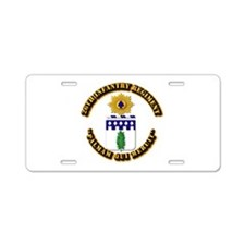 COA - 26th Infantry Regiment Aluminum License Plat