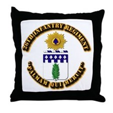 COA - 26th Infantry Regiment Throw Pillow