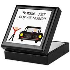 CAUTION NEW LICENSE Keepsake Box