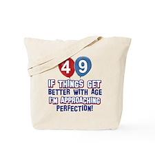 49 year old birthday designs Tote Bag