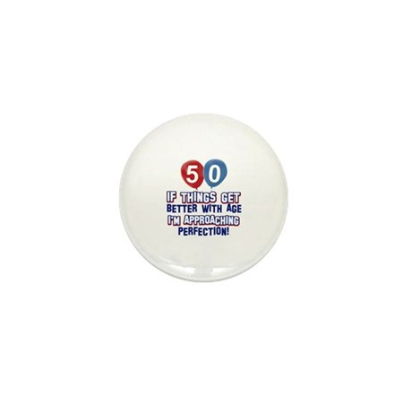 50 year old birthday designs Mini Button (100 pack