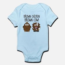 Cute Brown Chicken Brown Body Suit