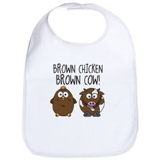 Cute Brown Chicken Brown Bib