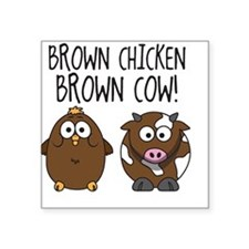 Cute Brown Chicken Brown Sticker