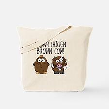 Cute Brown Chicken Brown Tote Bag
