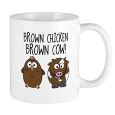 Cute Brown Chicken Brown Mug
