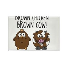 Cute Brown Chicken Brown Rectangle Magnet