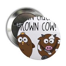 """Cute Brown Chicken Brown 2.25"""" Button"""