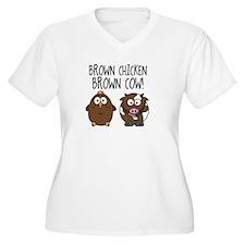 Cute Brown Chicken Brown Plus Size T-Shirt