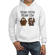 Cute Brown Chicken Brown Hoodie