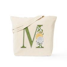 Monogram Letter M Tote Bag