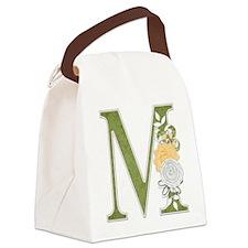 Monogram Letter M Canvas Lunch Bag