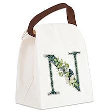 Monogram Letter N Canvas Lunch Bag