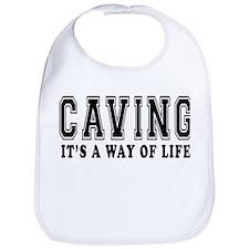 Caving It's A Way Of Life Bib