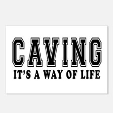 Caving It's A Way Of Life Postcards (Package of 8)