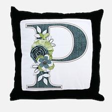 Monogram Letter P Throw Pillow