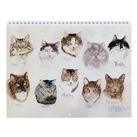 Kathryn's cats Wall Calendar