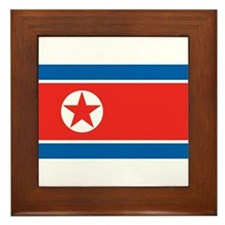 North Korea Framed Tile