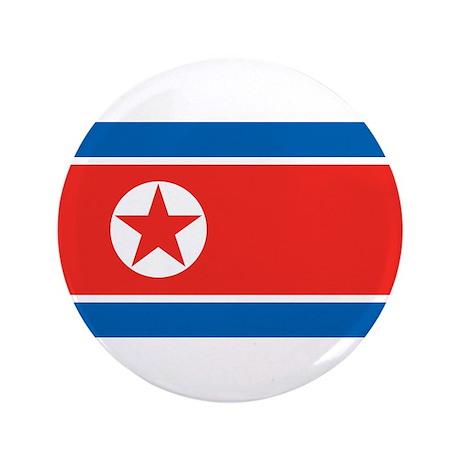 """North Korea 3.5"""" Button"""