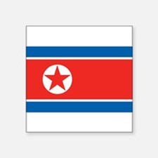 "North Korea Square Sticker 3"" x 3"""
