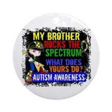 Rocks Spectrum Autism Ornament (Round)