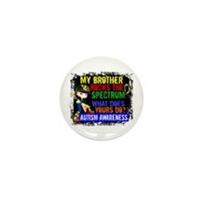 Rocks Spectrum Autism Mini Button (10 pack)