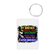 Rocks Spectrum Autism Aluminum Photo Keychain