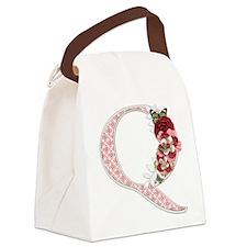 Monogram Letter Q Canvas Lunch Bag