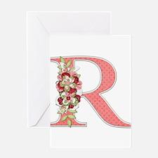 Monogram Letter R Greeting Card