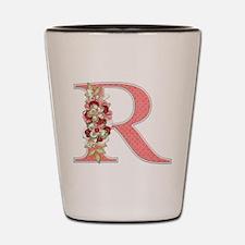 Monogram Letter R Shot Glass