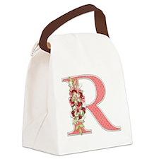 Monogram Letter R Canvas Lunch Bag
