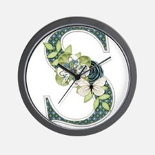 Monogram Letter S Wall Clock