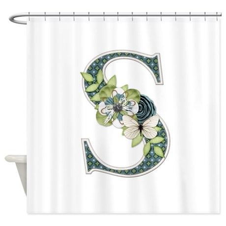 Monogram Letter S Shower Curtain