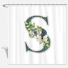 Monogram Letter S Shower Curtain