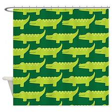 Crocodile Jungle Shower Curtain