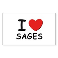 I love sages Rectangle Decal